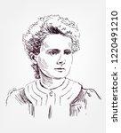 marie sklodowska curie vector... | Shutterstock .eps vector #1220491210