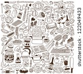 cookery   doodles collection | Shutterstock .eps vector #122049433