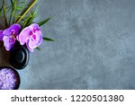 thai spa.  top view of hot...   Shutterstock . vector #1220501380