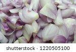 shredded shallots are small... | Shutterstock . vector #1220505100
