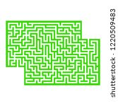 abstract rectangular maze. game ... | Shutterstock .eps vector #1220509483