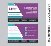 business card with stylish and... | Shutterstock .eps vector #1220512939