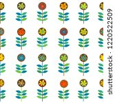 rows of flowers seamless... | Shutterstock .eps vector #1220522509