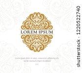golden vecor emblem. elegant ... | Shutterstock .eps vector #1220522740