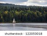 Sailboat On Lipno Lake  Czech...