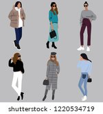 vector fashion illustration of...   Shutterstock .eps vector #1220534719