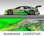 car decal graphic vector  wrap... | Shutterstock .eps vector #1220537143