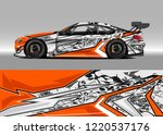car decal graphic vector  wrap... | Shutterstock .eps vector #1220537176
