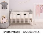 stylish baby room interior with ... | Shutterstock . vector #1220538916