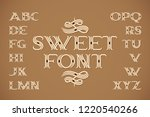 sweet vintage font with... | Shutterstock .eps vector #1220540266