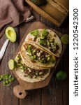 homemade minced beef tortilla ... | Shutterstock . vector #1220542300