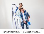 renovation  repair and family... | Shutterstock . vector #1220549263