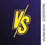 vector versus sign modern neon...   Shutterstock .eps vector #1220551996