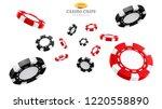 3d casino chips or flying... | Shutterstock .eps vector #1220558890