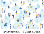 seamless background with group... | Shutterstock .eps vector #1220566486