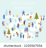 group of people in different... | Shutterstock .eps vector #1220567056
