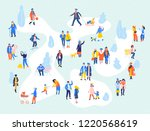 group of people in different... | Shutterstock .eps vector #1220568619