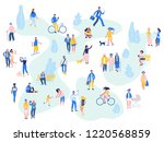 group of people in different... | Shutterstock .eps vector #1220568859