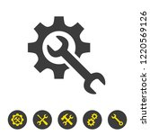 service tool icon on white... | Shutterstock .eps vector #1220569126