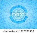 backbone light blue emblem.... | Shutterstock .eps vector #1220572453