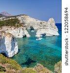 kleftiko  milos island ... | Shutterstock . vector #122058694