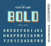 font and alphabet vector  bold... | Shutterstock .eps vector #1220589850