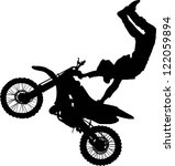 Silhouette Of Motorcycle Rider...