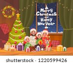 merry christmas and happy new... | Shutterstock .eps vector #1220599426