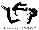 vector silhouette of man who... | Shutterstock .eps vector #1220609509