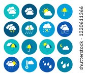 modern weather flat icons set.... | Shutterstock .eps vector #1220611366