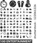 100 entertainment icons set ... | Shutterstock .eps vector #122061226