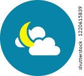 modern weather flat icons set.... | Shutterstock .eps vector #1220615839