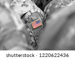 us troops. us soldiers. us army | Shutterstock . vector #1220622436