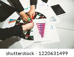 business target goal teamwork... | Shutterstock . vector #1220631499