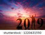 new year 2019 concept... | Shutterstock . vector #1220631550