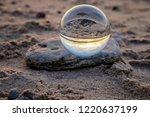 beautiful transparent glass... | Shutterstock . vector #1220637199