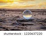 beautiful transparent glass... | Shutterstock . vector #1220637220