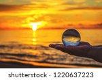 beautiful transparent glass... | Shutterstock . vector #1220637223