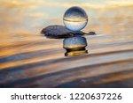 beautiful transparent glass... | Shutterstock . vector #1220637226