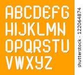 origami alphabet letters.... | Shutterstock .eps vector #122064874