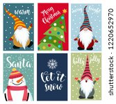 christmas cards collection .... | Shutterstock .eps vector #1220652970