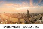 panorama bangkok city river...   Shutterstock . vector #1220653459
