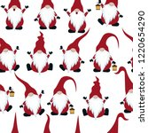 christmas seamless pattern with ... | Shutterstock .eps vector #1220654290