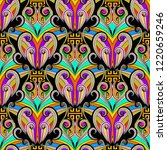 colorful floral ethnic style...   Shutterstock .eps vector #1220659246
