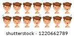 little girl  facial emotions... | Shutterstock .eps vector #1220662789