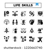 life skill glyph design icon... | Shutterstock .eps vector #1220663740