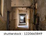 Corridor In Abandoned Factory...