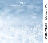 winter blurred blue background... | Shutterstock .eps vector #1220670493