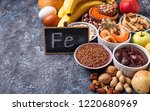 healthy product sources of iron.... | Shutterstock . vector #1220680969