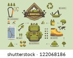 hiking equipment info graphics... | Shutterstock .eps vector #122068186